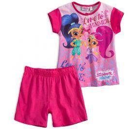 Dívčí letní pyžamo SHIMMER & SHINE LOVE TO SHINE růžové fuxi Velikost: 98