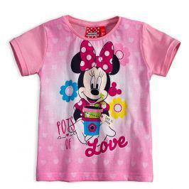 Dívčí tričko Disney MINNIE LOVE světle růžové quarzo Velikost: 104