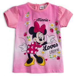 Tričko pro holčičky Disney MINNIE GARDEN světle růžové Velikost: 80