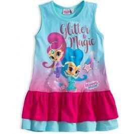 Dívčí letní šaty SHIMMER & SHINE GLITTER tyrkysové Velikost: 98