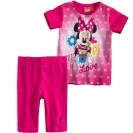 Dívčí souprava Disney MINNIE LOVE tmavě růžová Velikost: 128