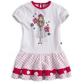 Dětské šaty s krátkým rukávem Mix´nMATCH MISS SWEETY červené Velikost: 80