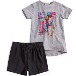 Dívčí tričko a šortky Mix´nMATCH BLOGGERS šedý melír Velikost: 152