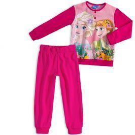 Dívčí pyžamo DISNEY FROZEN ANNA a ELSA růžové fuxia Velikost: 98
