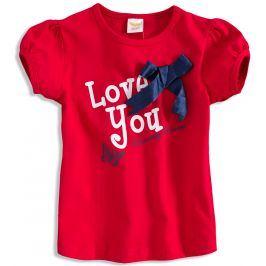 Kojenecké dívčí tričko DIRKJE LOVE YOU červené Velikost: 56