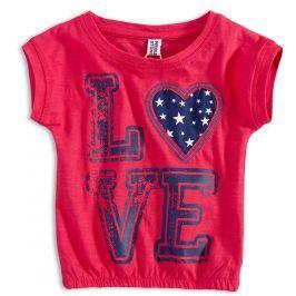 Dívčí tričko PEBBLESTONE LOVE červené Velikost: 92-98
