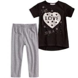 Dívčí tričko a leginy Mix´nMATCH LOVE černá Velikost: 128