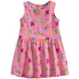 Kojenecké letní šaty KNOT SO BAD ICE CREAM růžové Velikost: 62