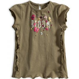 Dívčí tričko KNOT SO BAD BLOOM khaki Velikost: 92