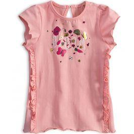 Dívčí tričko KNOT SO BAD BLOOM růžové Velikost: 92