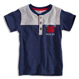 Dětské tričko s krátkým rukávem MINOTI ELM tmavě modré Velikost: 98-104