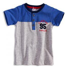 Dětské tričko s krátkým rukávem MINOTI ELM šedý melír Velikost: 140-146