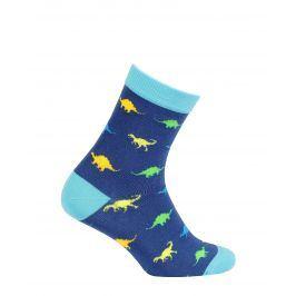 Chlapecké ponožky se vzorem GATTA DINOSAUŘI modré Velikost: 27-29