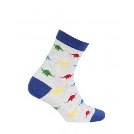 Chlapecké ponožky se vzorem GATTA DINOSAUŘI šedé Velikost: 27-29