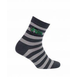 Chlapecké vzorované ponožky GATTA AUTO DRIFT šedé Velikost: 27-29
