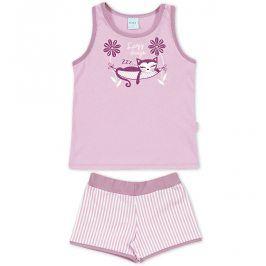 Dívčí letní pyžamo Kyly KOČKA fialové Velikost: 116