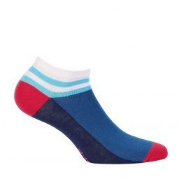 Dívčí kotníkové ponožky WOLA PROUŽEK modré Velikost: 33-35