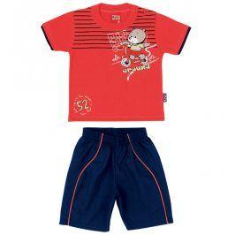 Chlapecká souprava tričko a kraťasy KYLY oranžová Velikost: 80
