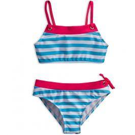 Dívčí plavky KNOT SO BAD PROUŽKY světle modré Velikost: 92