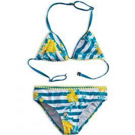 Dívčí plavky KNOT SO BAD ROSES zelené Velikost: 128