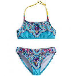 KNOT SO BAD Dívčí dvoudílné plavky CASHMERE tyrkysové Velikost: 140