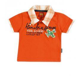 Tričko s límečkem KYLY oranžové Velikost: 92