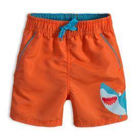 Chlapecké koupací šortky KNOT SO BAD ŽRALOK oranžové Velikost: 92