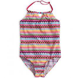 Dívčí jednodílné plavky KNOT SO BAD MAYA růžové Velikost: 128