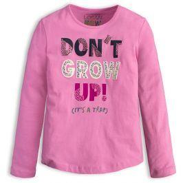 Dívčí triko LOSAN DON´T GROW růžové Velikost: 128