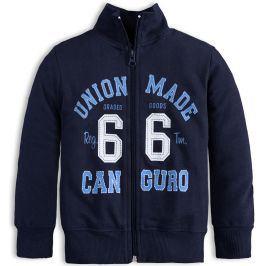Chlapecká rozepínací mikina CANGURO UNION tmavě modrá Velikost: 140