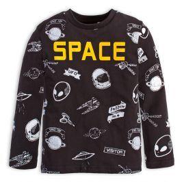 Chlapecké tričko KNOT SO BAD SPACE černé Velikost: 92