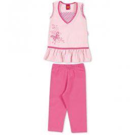 Dívčí komplet tunika a leginy KYLY růžový Velikost: 98