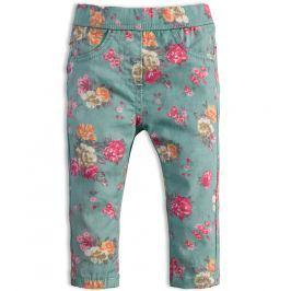 Dívčí kalhoty KNOT SO BAD KYTIČKY šedé Velikost: 62
