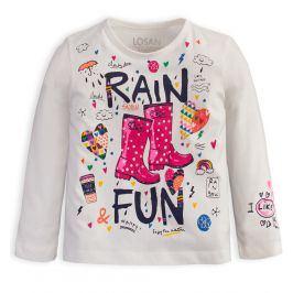 Dívčí triko LOSAN RAIN smetanové Velikost: 92