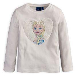 Dívčí tričko s překlápěcími flitry DISNEY FROZEN ELSA smetanové Velikost: 98