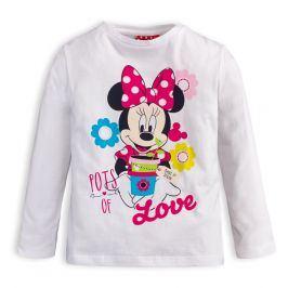 Dívčí tričko DISNEY MINNIE LOVE bílé Velikost: 98