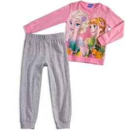 Dívčí pyžamo DISNEY FROZEN ANNA a ELSA růžové quarzo Velikost: 98