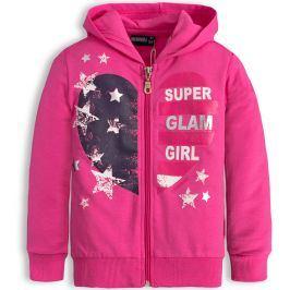 Dívčí mikina CANGURO GLAM GIRL růžová Velikost: 98