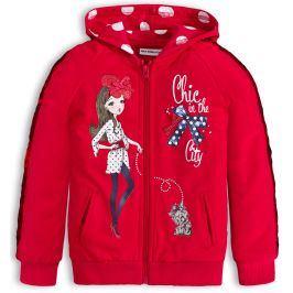 Dívčí mikina s flitry Mix´nMATCH CHIC červená Velikost: 98