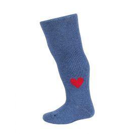 Dívčí punčocháče se vzorem WOLA SRDÍČKO modré jeans Velikost: 62-74