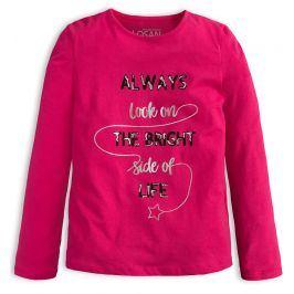 Dívčí triko LOSAN BRIGHT SIDE růžové Velikost: 128