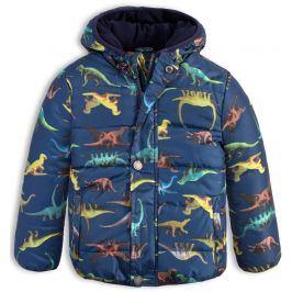 Chlapecká zimní bunda LEMON BERET DINOSAUŘI modrá Velikost: 92-98