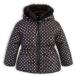 Kojenecká dívčí zimní bunda LEMON BERET PUNTÍKY černá Velikost: 86