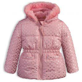 Kojenecká dívčí zimní bunda LEMON BERET PUNTÍKY růžová Velikost: 80
