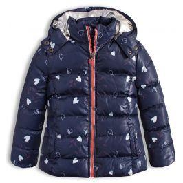 Dívčí zimní bunda LEMON BERET SRDÍČKA modrá Velikost: 92-98