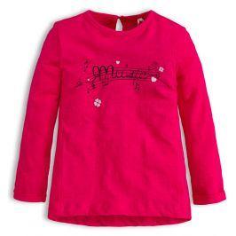 Dívčí tričko KNOT SO BAD MUSIC růžové Velikost: 92