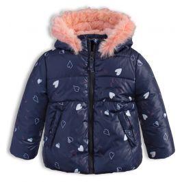 Dívčí zimní bunda LEMON BERET SRDÍČKA modrá Velikost: 68