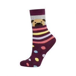 Dětské termo ponožky SOXO PEJSEK fialové Velikost: 25-28