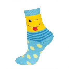 Dětské termo ponožky SOXO SMAJLÍK tyrkysové Velikost: 25-28
