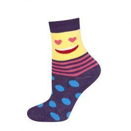 Dětské termo ponožky SOXO SMAJLÍK SRDÍČKA fialové Velikost: 25-28